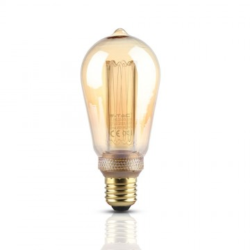 Bombilla LED 4W ART Filamento Vela E27 ST64 Ámbar 1800K±200K