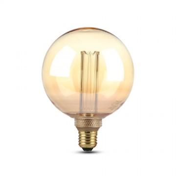 Bombilla LED 4W ART Filamento Vela E27 G125 Ámbar 1800K±200K