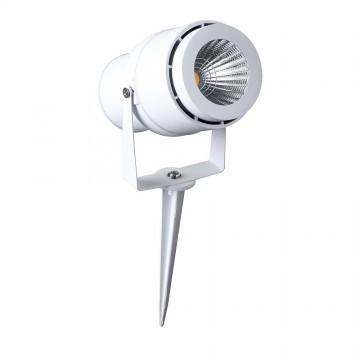 Pincho de jardín de LED 12W cuerpo blanco 3000K