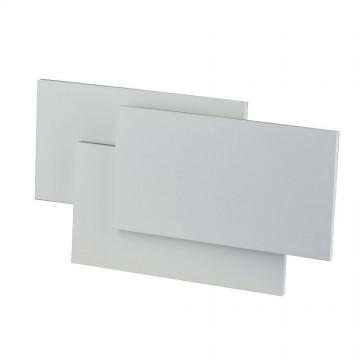 Aplique de Pared 12W Diseño Rectangulo Triple Cuerpo Blanco IP20