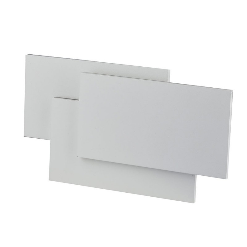 Aplique de Pared 12W Diseño Rectangulo Triple Cuerpo Blanco IP20
