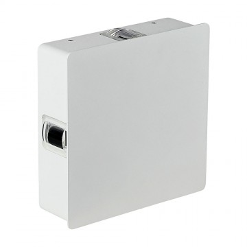 Aplique de Pared LED 4W Cuerpo Blanco Cuadrado IP65