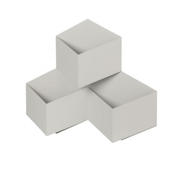 Aplique de Pared 9W Cubo 3D Triple Cuerpo Blanco IP65