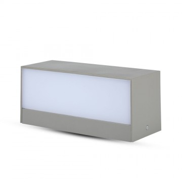 Aplique Pared exterior LED 12W UP-DOWN Cuerpo Gris IP65