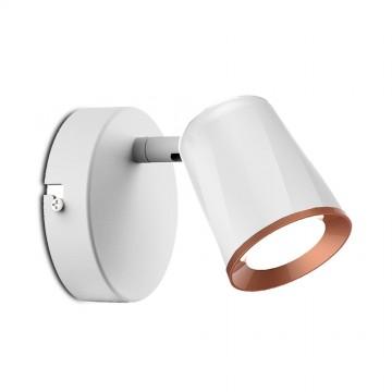 Aplique Pared LED 6W Redirecionable 100º Cuerpo Blanco