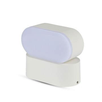Aplique de Pared 6W LED Cuerpo Blanco IP65 Direccionable