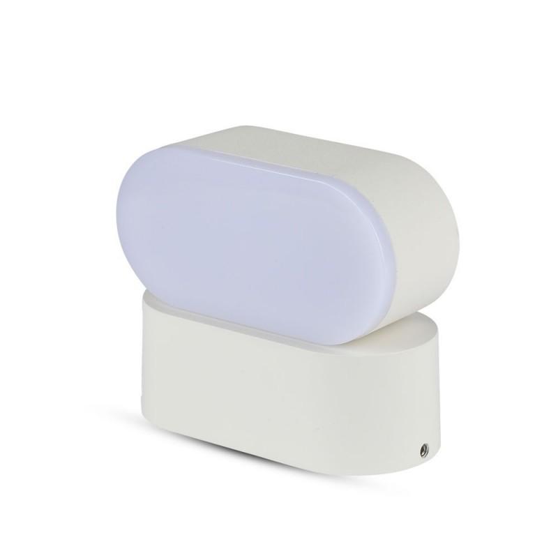 Aplique de Pared 6W LED Cuerpo Blanco IP65 Direccionable VT-816B-Apliques Pared-VTAC