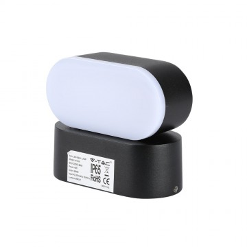 Aplique de Pared 6W LED Cuerpo Negro IP65 Direccionable