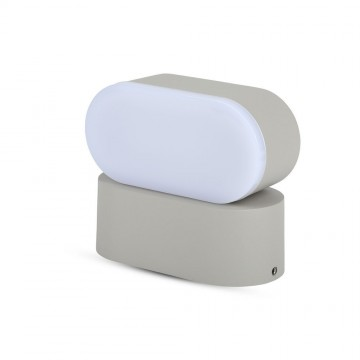 Aplique de Pared 6W LED Cuerpo Gris IP65 Direccionable
