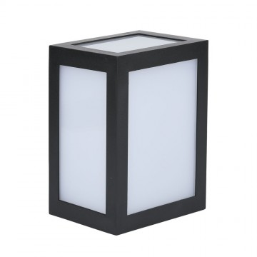 Aplique de Pared LED 12W Cuerpo Negro IP65