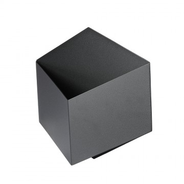 Aplique Pared Cubo 3D 3W Bridgleux Chip Cuerpo Negro