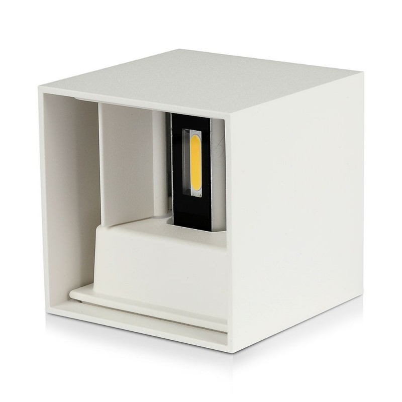 Aplique de Pared LED 12W Chip BRIDGELUX Cuerpo Blanco Cuadrado VT-759-12B-Apliques Pared-VTAC