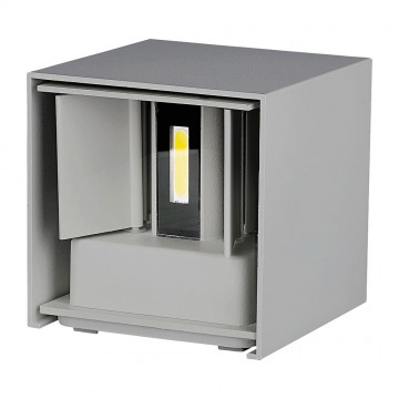 Aplique de Pared LED 12W Chip BRIDGELUX Cuerpo Gris Cuadrado