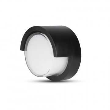 Aplique de Pared 12W LED Negro Redondo IP65