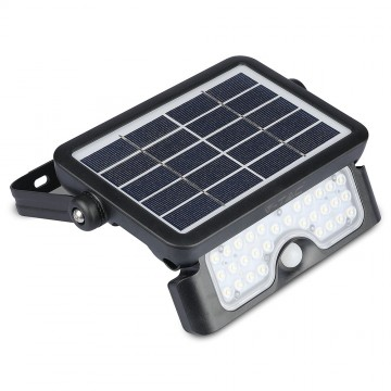 Proyector LED solar 5W cuerpo Negro