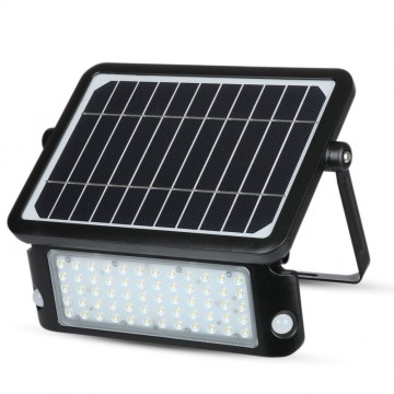 Proyector LED solar 10W cuerpo Negro