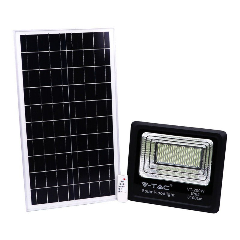 Panel solar 40W con Proyector de LED VT-200W-Proyectores-buyled.es