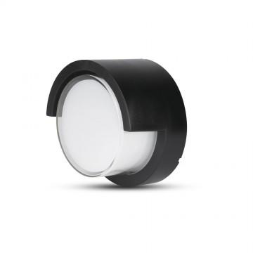 Aplique de Pared 7W LED Negro Redondo IP65