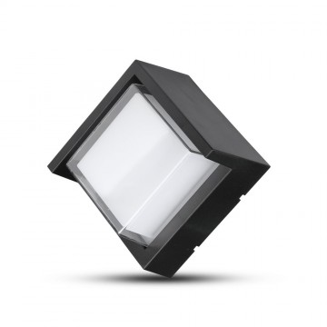 Aplique de Pared 7W LED Negro Cuadrado IP65