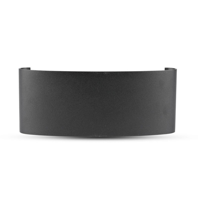 Aplique de Pared 8W UP-DOWN Cuerpo Negro IP54