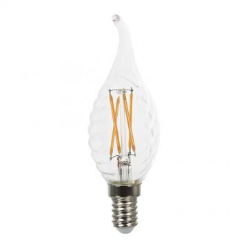 Bombilla LED 4W E14 Filamento Vela Acabado Cruzado Regulable