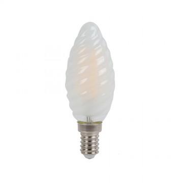 LBombilla LED 4W Filamento cruzado E14 Frost Vela
