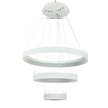 80W Lámpara de araña Slim regulable 3 pasos Blanco Natural