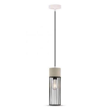 Lámpara Colgante de hormigón E27 reja cilindro Ф120mm