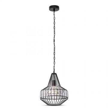 Lámpara Colgante de Metal con cristales