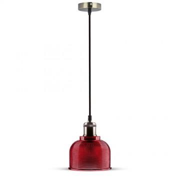 Lampara Colgante de cristal Rosa 150 cm