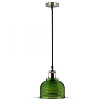 Lampara Colgante de cristal Verde 150cm