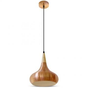 Lampara Colgante Rojo Bronze Metal ф360