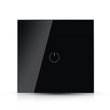 Interruptor Táctil 1 salida WIFI compatible con Google Home y Amazon Alexa Negro