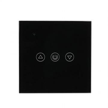 Interruptor táctil EU WIFI compatible con Amazon Alexa & Google Home cuerpo Negro