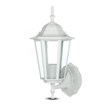 Luz para jardin de pared E27 Blanco mate
