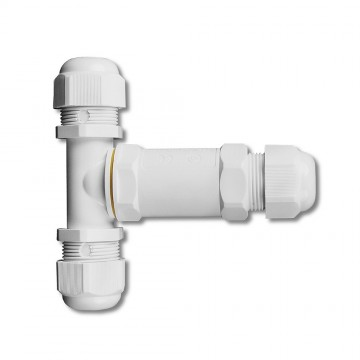 Conector blanco IP68 3x8-12mm