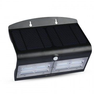 Aplique de pared solar LED 6.8W Cuerpo Negro