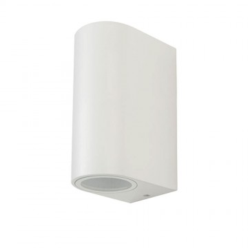 Aplique de Pared Cuerpo 2XGU10 Blanco Redondo IP44