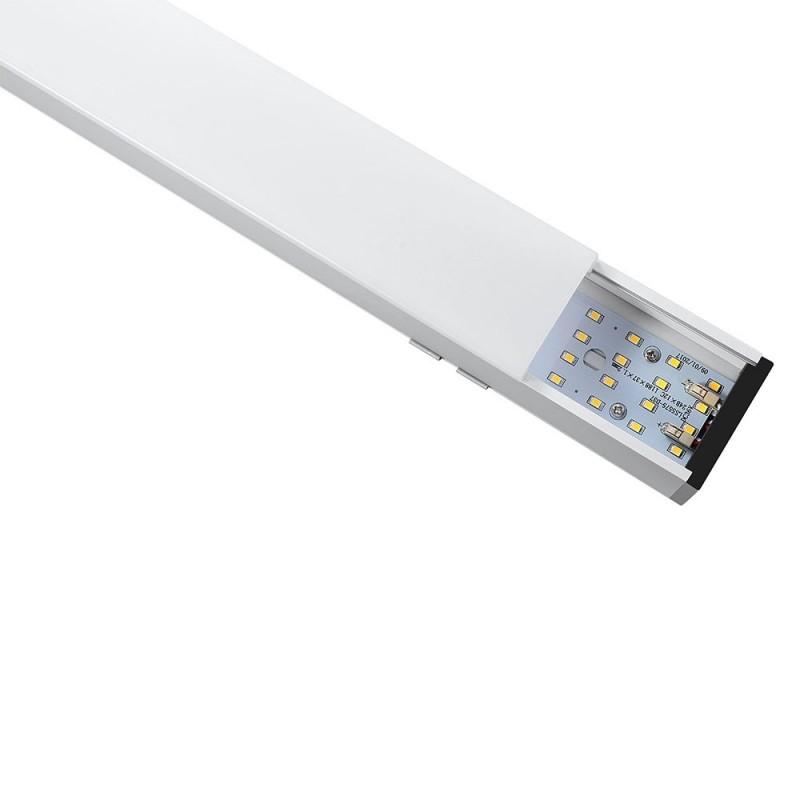 Lampara Colgante Lineal Suspendida 40W LED - SAMSUNG Chip Cuerpo Plata VT-7-43-Iluminación Decorativa-VTAC