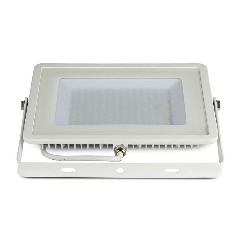 Proyector LED SMD 100W Chip SAMSUNG Cuerpo Blanco VT-100-Proyectores LED-buyled.es