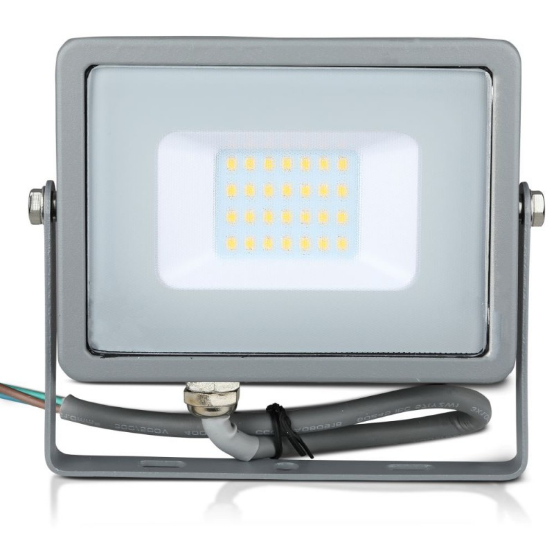 Proyector LED 20W SMD SAMSUNG Chip Cuerpo Gris