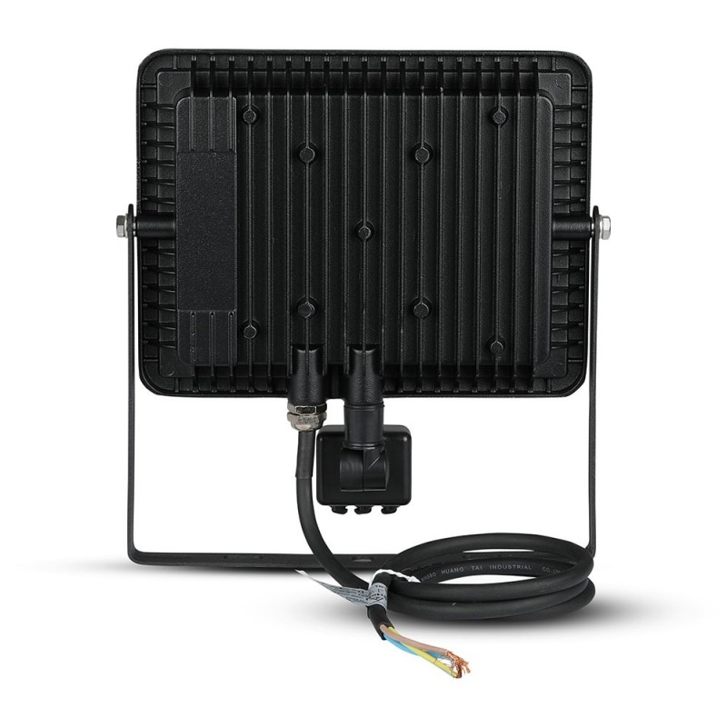 Proyector LED 50W con Sensor SAMSUNG Chip Cuerpo Negro VT-50-S-Proyectores LED-buyled.es