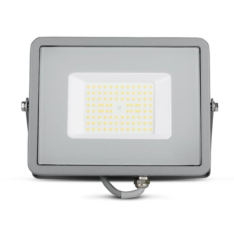 Proyector LED 50W SMD SAMSUNG Chip ultra SLIM Gris 120 lm/W VT-56-Proyectores LED-VTAC