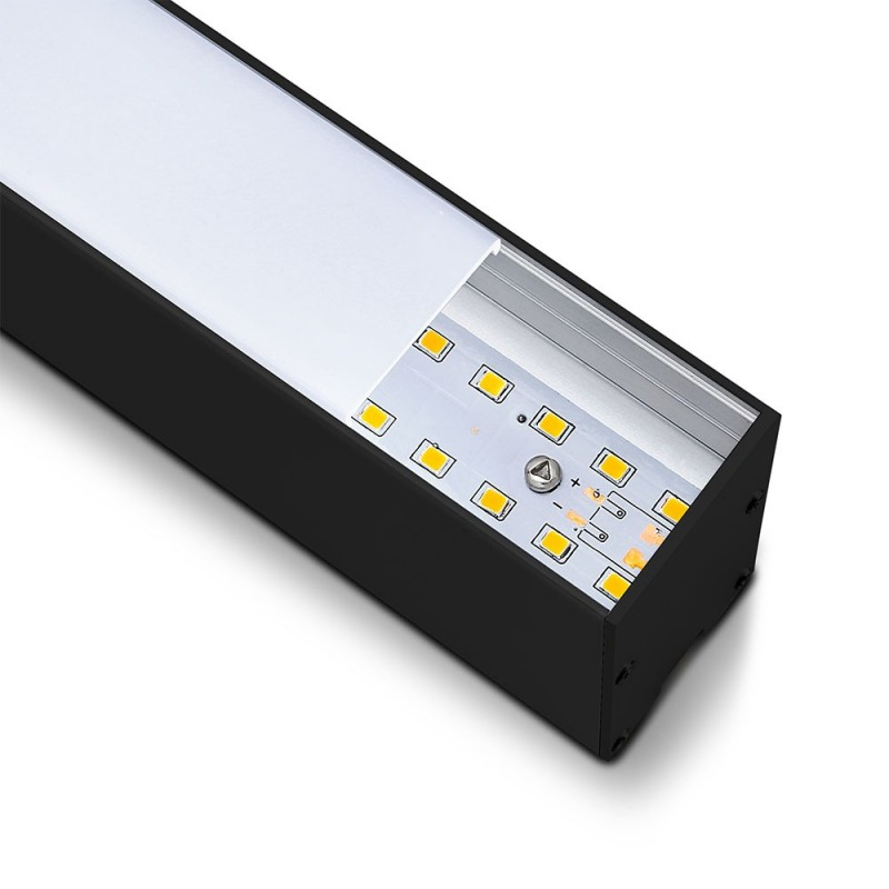 Lámpara Lineal LED 40W SAMSUNG Chip montaje de suspención Cuerpo Negro VT-7-40-Iluminación Decorativa-VTAC