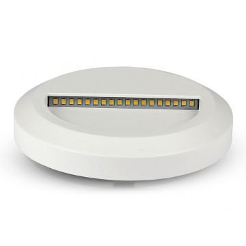 Baliza LED Escalera 2W Cuerpo Blanco Redondo IP65
