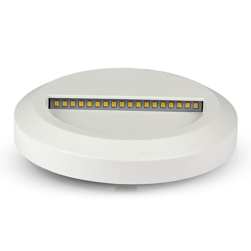 Baliza LED Escalera 2W Cuerpo Blanco Redondo IP65 VT-1142BR-Iluminación Escaleras-VTAC