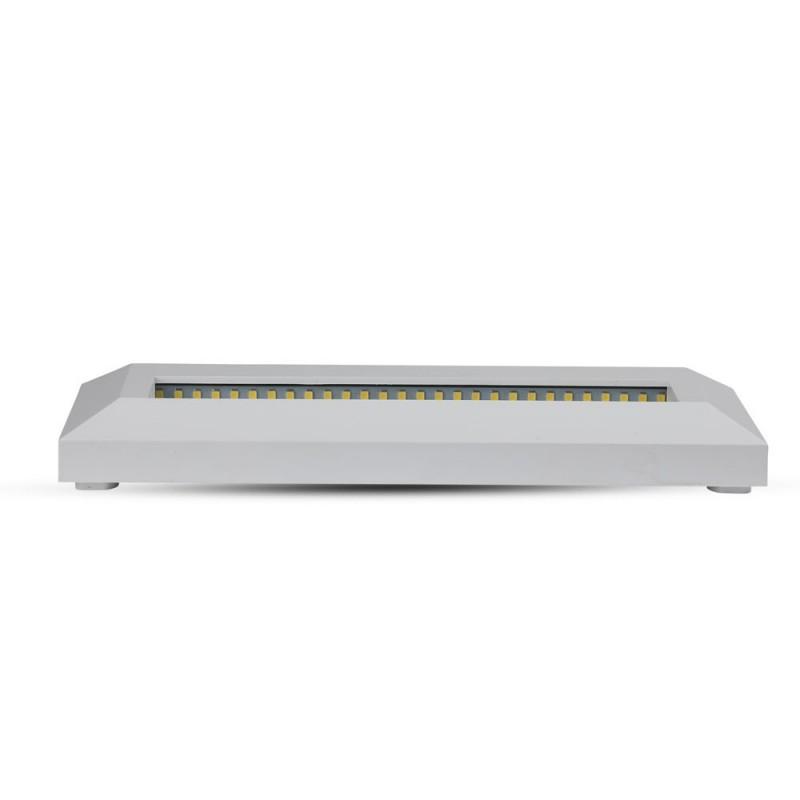 Baliza LED Escalera 3W Cuerpo Blanco Rectangular IP65 VT-1162BR-Iluminación Escaleras-VTAC