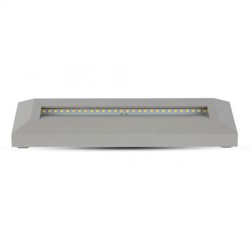 Baliza LED Escalera 3W Cuerpo Gris Rectangular IP65