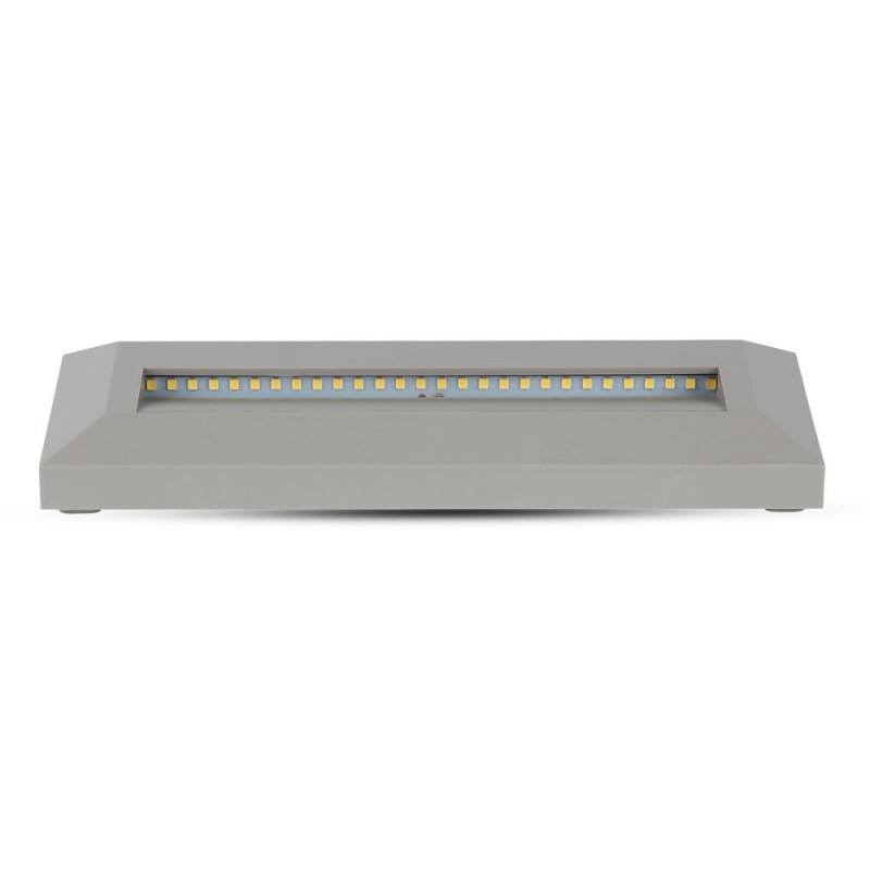 Baliza LED Escalera 3W Cuerpo Gris Rectangular IP65 VT-1162GR-Iluminación Escaleras-VTAC
