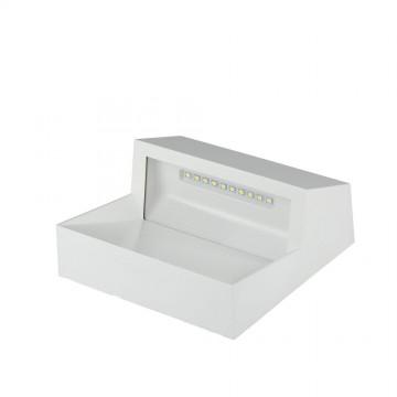 Baliza LED Escalera 3W Cuerpo Blanco cuadrado